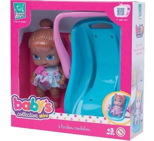 boneca babys colletion mini bebe conforto negra super toys