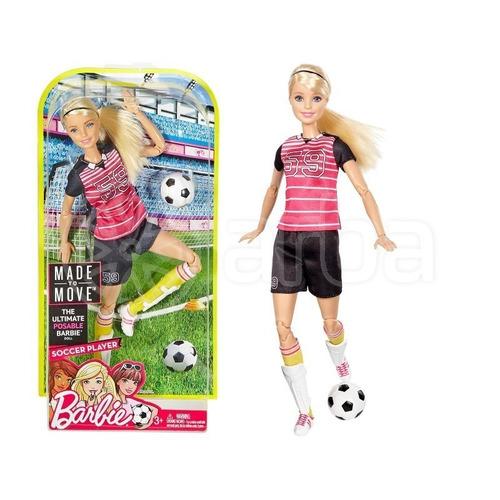 boneca barbie -articulada  - jogadora de futebol - mattel