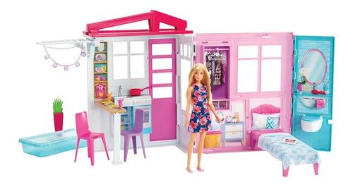 boneca barbie casa da barbie - fxg55 mattel