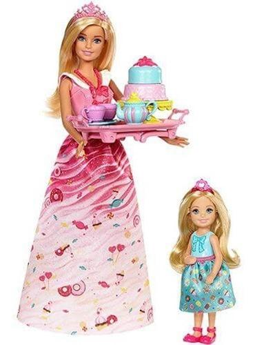 boneca barbie dreamtopia com chelsea - festa do chá