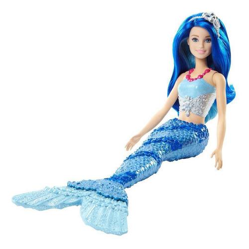 boneca barbie dreamtopia sereia cabelo azul