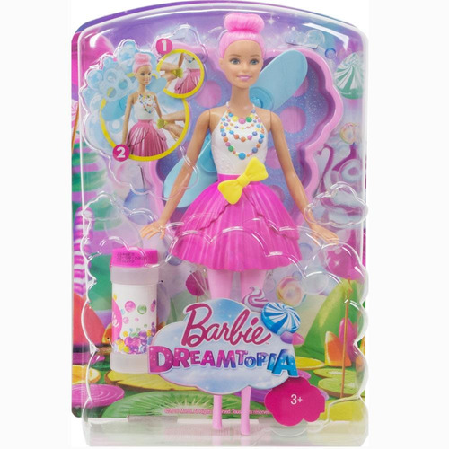 boneca barbie fada bolhas mágicas mattel