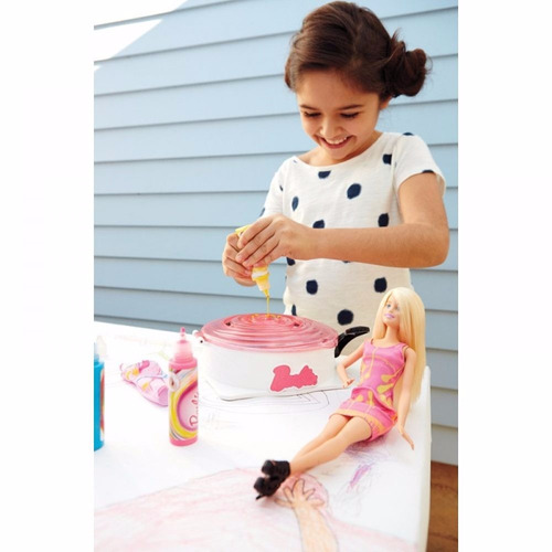 boneca barbie fashion conjunto giro e design - mattel