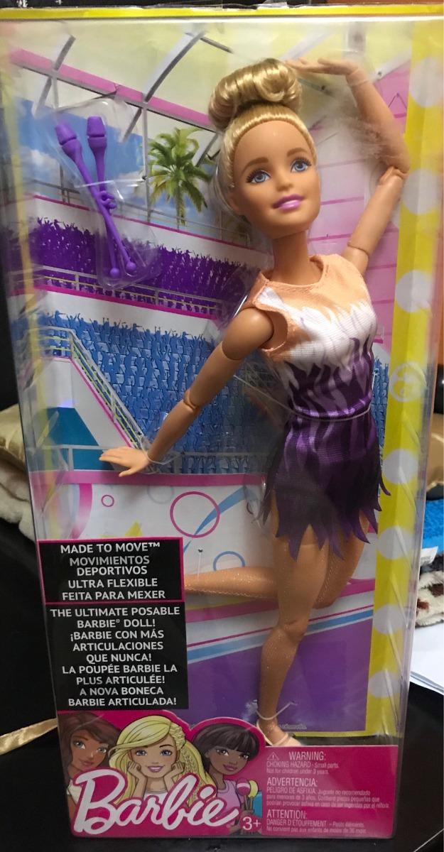 Barbie feita para mover Boneca rítmica Ginasta