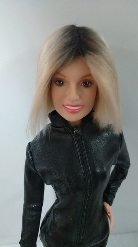 boneca barbie ooak britney spears com peruca model muse 27 o