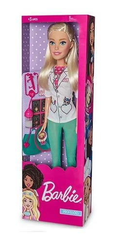 boneca barbie veterinaria 65cm com acessorios pupee 1274