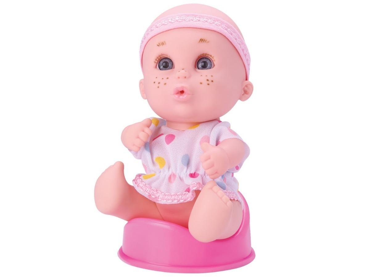 8683faf1e443f7 Boneca Bebê C 3 Acessorios Menina Presente Criança