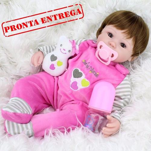 boneca bebê reborn 40cm pronta entrega com frete grátis