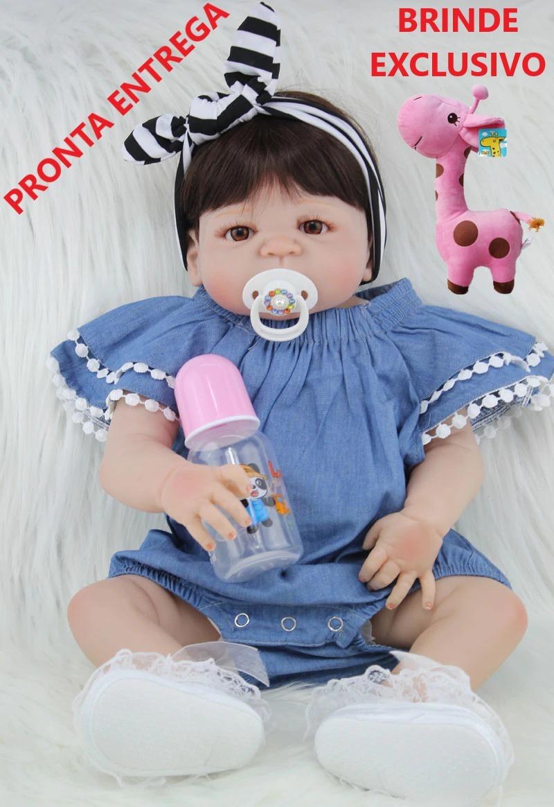 c25e2af85 boneca bebê reborn corpo inteiro de silicone pronta entrega. Carregando zoom .
