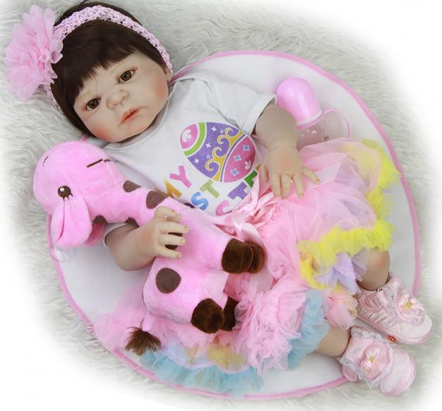 13b250d952d Boneca Bebê Reborn Corpo Silicone Menina Oferta Barato M86