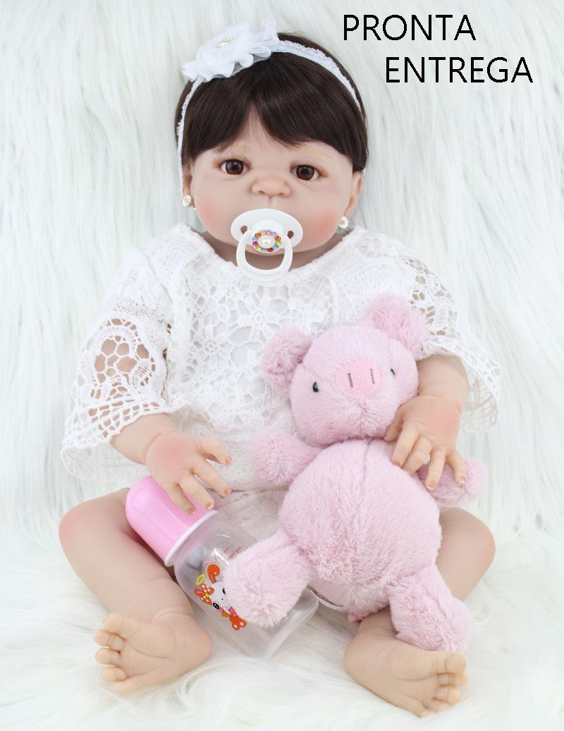 ad94c4b6f boneca bebê reborn corpo silicone pronta entrega + brinde. Carregando zoom.