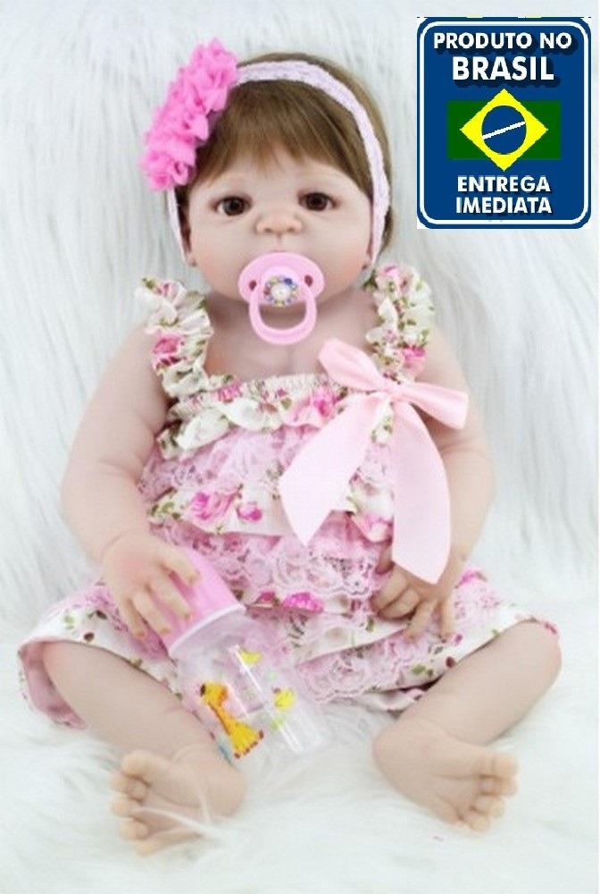 204f3d20f Boneca Bebê Reborn Corpo Silicone Pronta Entrega Rb08 - R  599
