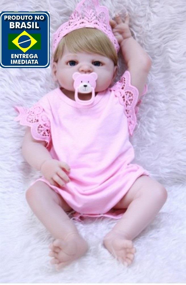 531095eef Boneca Bebê Reborn Corpo Silicone Pronta Entrega Rb19 - R  599