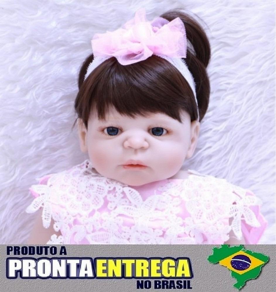 4a934a3f6 Boneca Bebê Reborn Corpo Silicone Pronta Entrega Rb25 - R  599