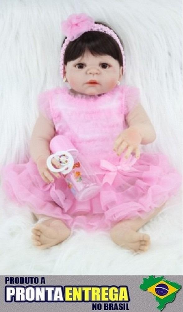 586e5e6b9 Boneca Bebê Reborn Corpo Silicone Pronta Entrega Rb45 - R  599
