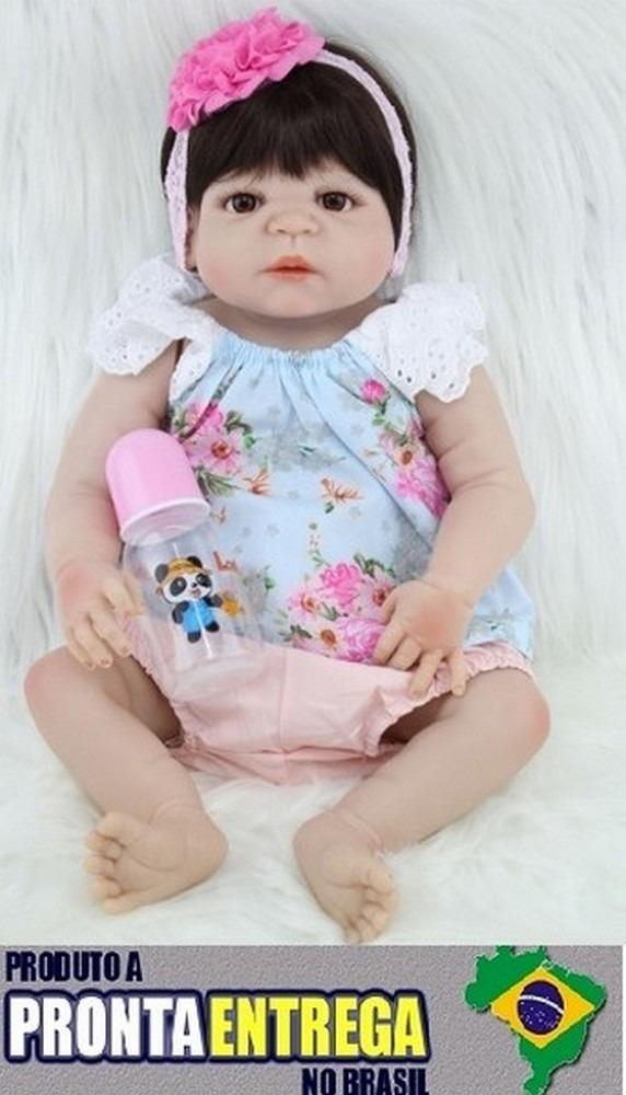8a1c3b0ef Boneca Bebê Reborn Corpo Silicone Pronta Entrega Rb65 - R  599