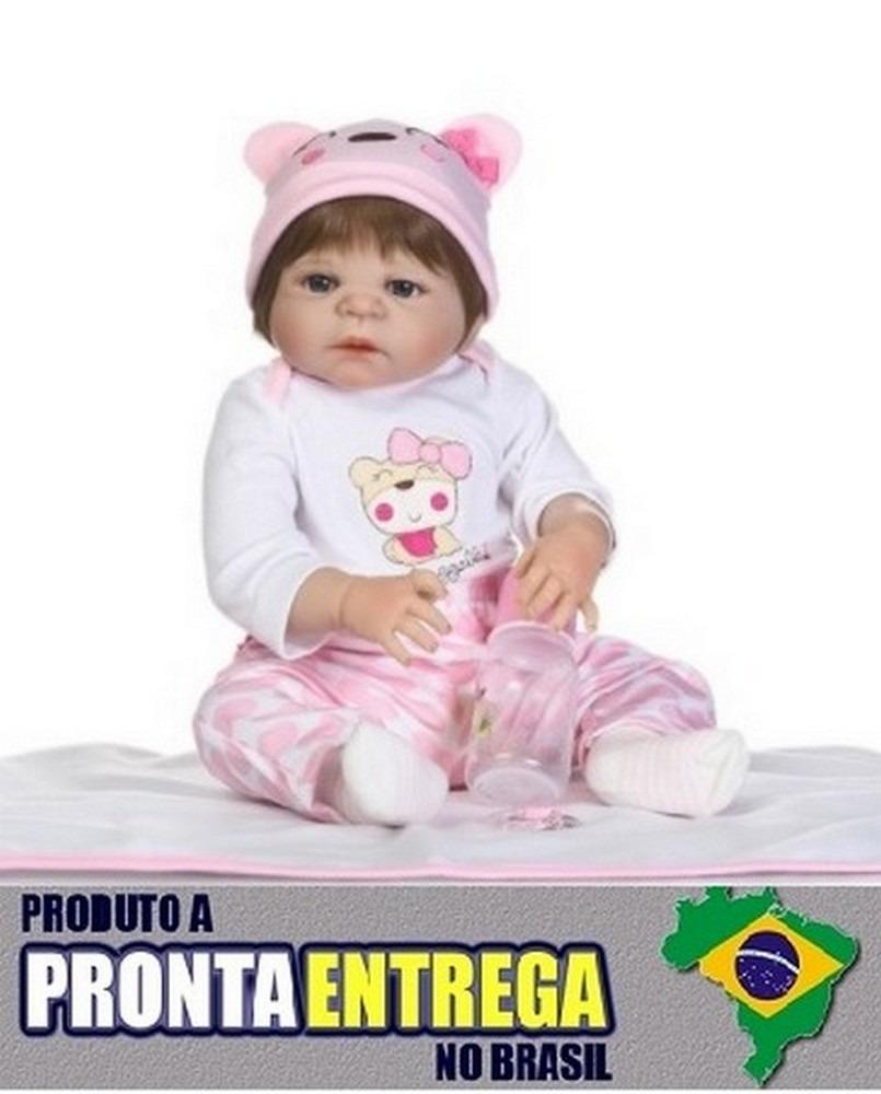 f4c927e0e Boneca Bebê Reborn Corpo Silicone Pronta Entrega Rb77 - R  599