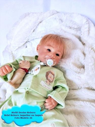 boneca bebê reborn jaqueline ou jaques igual a um bebe real