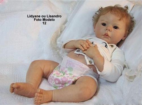boneca bebê reborn lidyane quase real opção sem enxoval