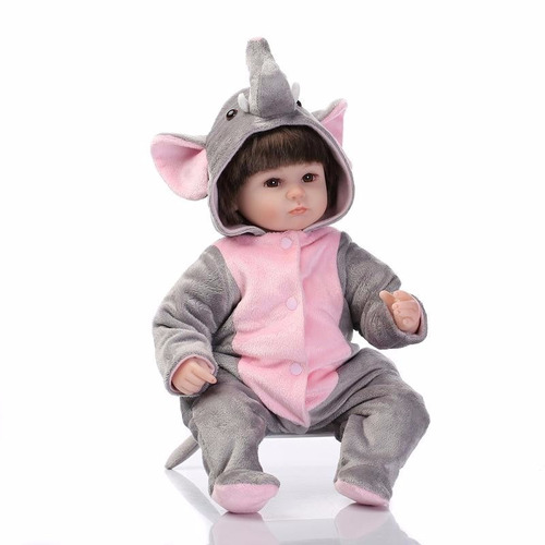 Boneca Beb 234 Reborn Menina Fantasia Elefante Linda Crian 231 A