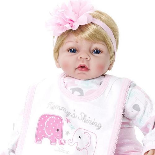 boneca bebê reborn menina linda kaydora bruna original