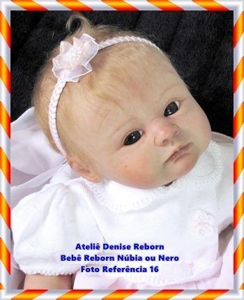boneca bebê reborn núbia ou nero kit eden sob encomenda