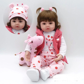 ac911bb3ccbc7f Boneca Bebê Reborn Realista 48cm Pronta Entrega Promoção