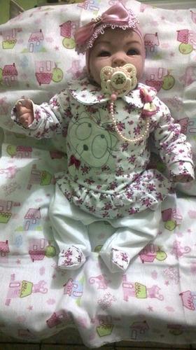 boneca bebê reborn vai com lindo enxoval completo