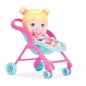 Boneca Bebê Conforto Little Dolls Alive Passeio - Divertoys