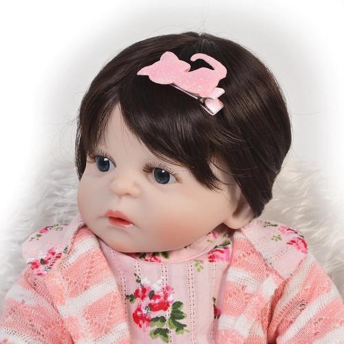 boneca bebe reborn  48cm  corpo todo silicone pronta entrega