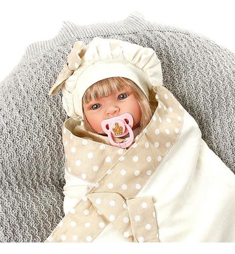 boneca bebe reborn balone caqui cegonha dolls 22 acessórios