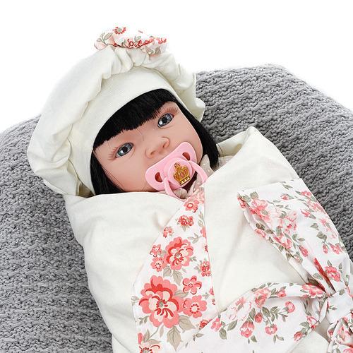 boneca bebe reborn encanto floral rosa cegonha reborn dolls