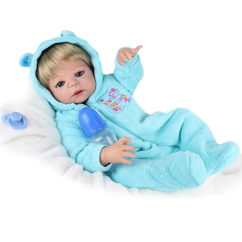 fcfb11fbc boneca bebe reborn loiro menino silicone pronta entrga. Carregando zoom.