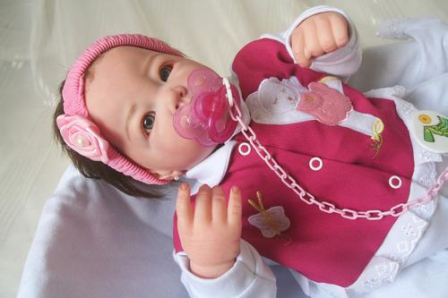 boneca bebe reborn membros siliconado molde  lucca.
