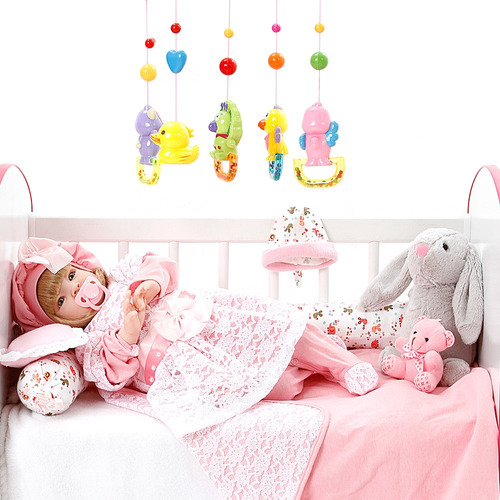 boneca bebe reborn menina ana laura salmão cegonha dolls