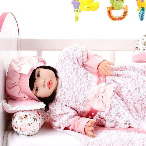 boneca bebe reborn menina ana laura salmão cegonha reborn