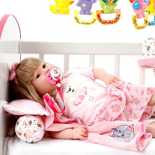 boneca bebe reborn menina diandra lavinia azul bebe cegonha
