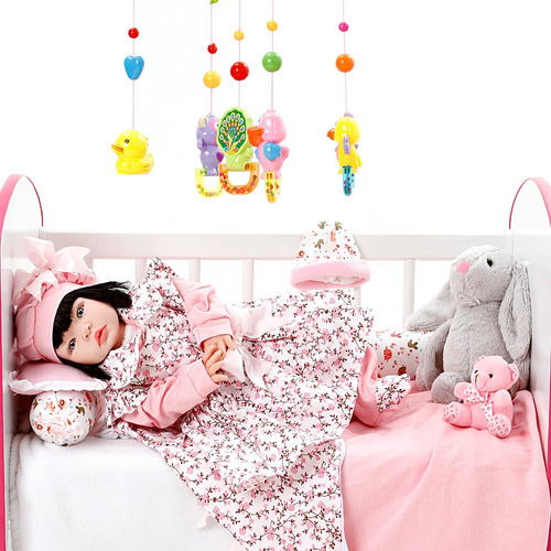 boneca bebe reborn menina floral millie cegonha reborn dolls