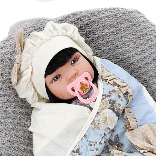 boneca bebe reborn menina lavinia azul bebe cegonha  dolls