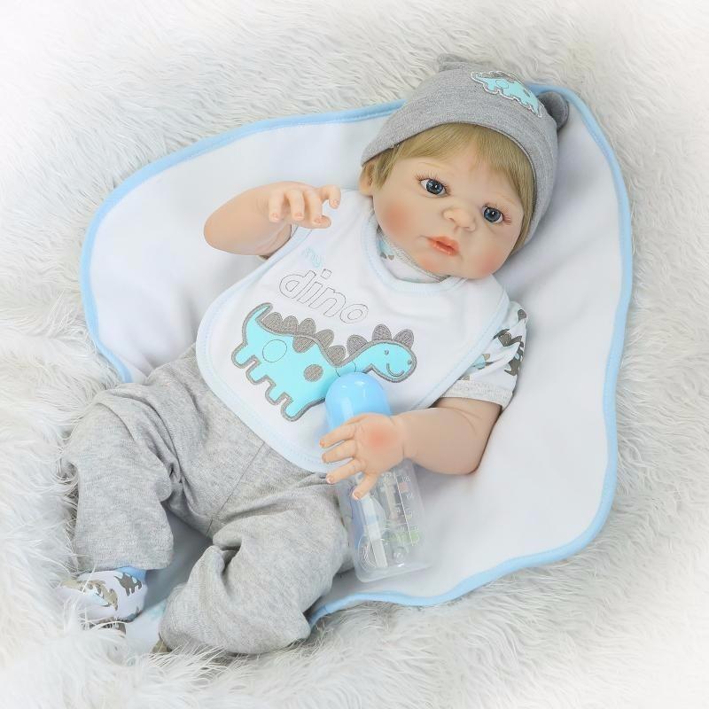 7a048eec2 boneca bebe reborn menino loiro 100% silicone pronta entrega. Carregando  zoom.
