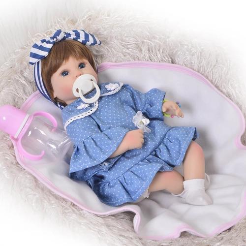 boneca bebe reborn realista corpo de pano 42cm pronta entreg