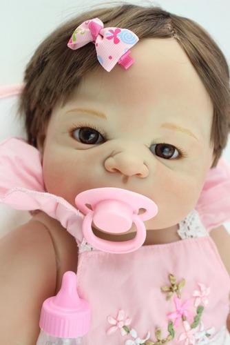 boneca bebe reborn(corpo todo vinil silicone)*pronta entrega