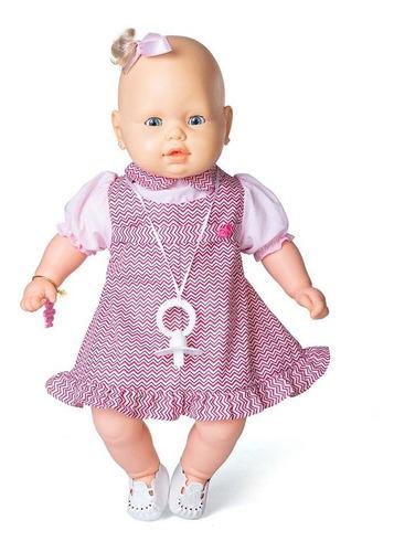 boneca bebezinho vestido rosa da estrela 49 cm bonellihq h18