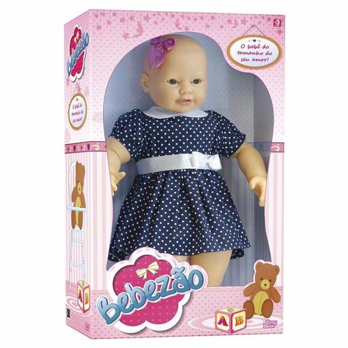 boneca bebezão babybrink 76 cm