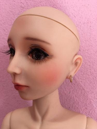 boneca bjd msd tanned 41 cm goodreau custom com peruca