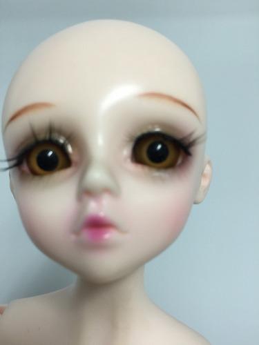 boneca bjd recast 1/4  doll c/ peruca, roupas e sapatos