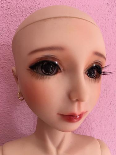 boneca bjd tanned msd 41 cm c.peruca goodreau custom rara
