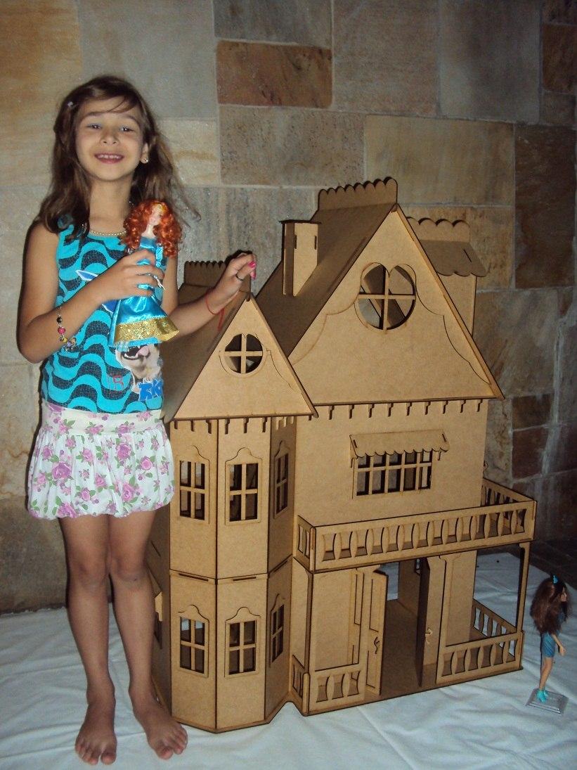 802aa4e0c Casa De Boneca Casinha De Bonecas Barbie Princesas Emily Cr - R  409 ...