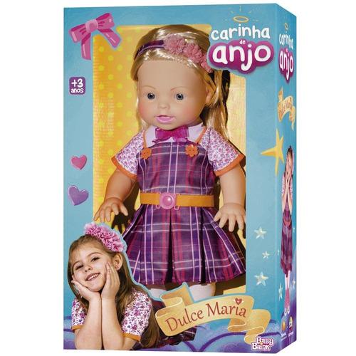 boneca carinha de anjo baby brink