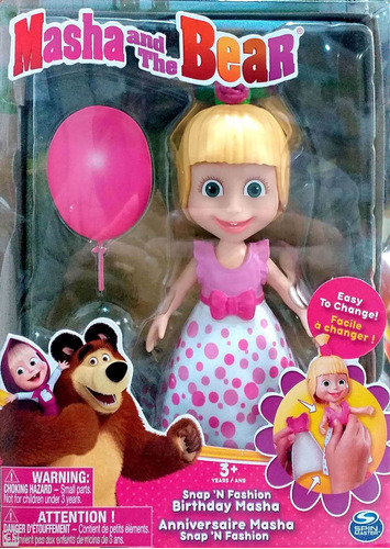 boneca com acessórios masha e o urso masha festa sunny 1475